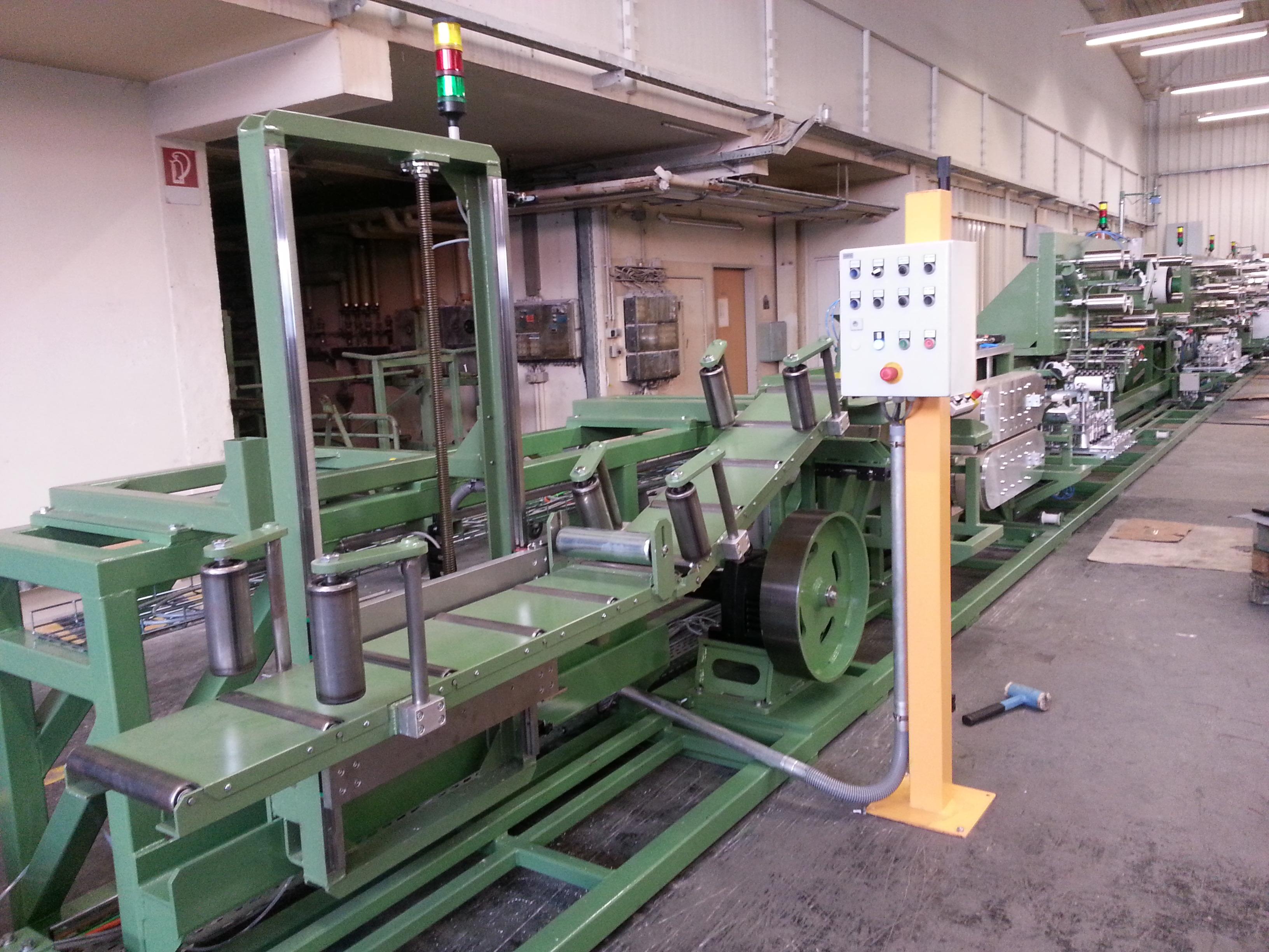 Handlaufkonvektioniermaschine, L=22m, 13 Einzelstationen